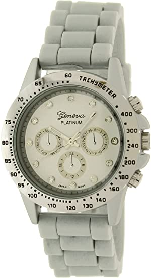 Geneva Platinum 9689.Silver.Grey Mujeres Relojes
