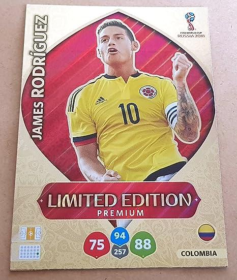 Adrenalyn XL FIFA World Cup 2018 Rusia – James Rodriguez Premium Tarjeta de Comercio de edición Limitada – Colombia: Amazon.es: Deportes y aire libre