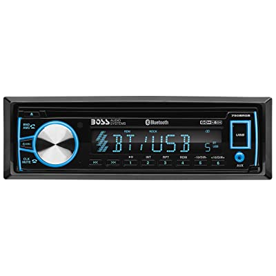 BOSS Audio Systems 750BRGB Car Stereo - Single Din, Bluetooth, CD MP3 USB WMA AM FM Radio, Detachable Front Panel, Multi Color Illumination