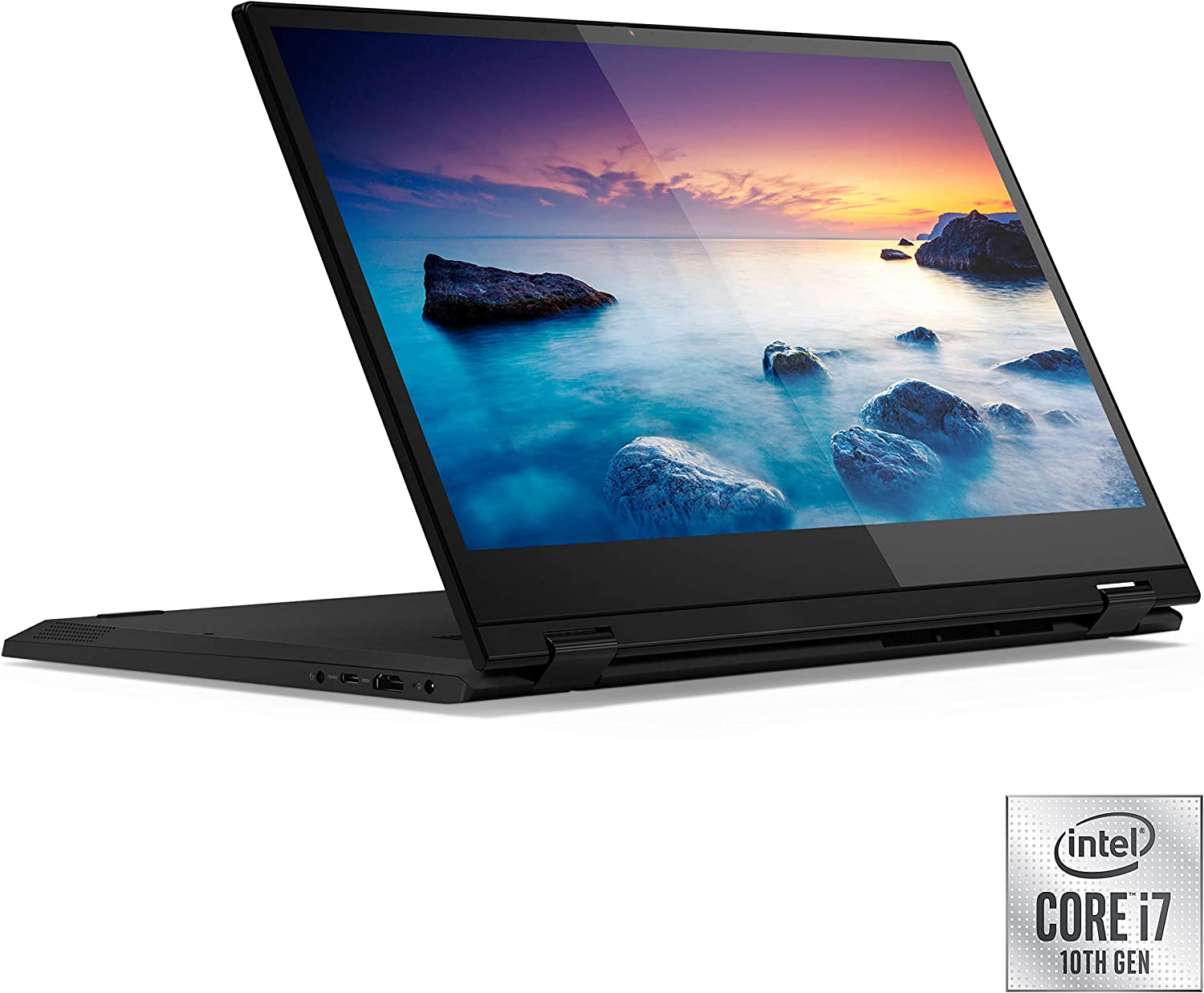 "Lenovo Flex 15 2-in-1 Convertible Laptop, 15.6"" FHD (1920 X 1080) Display, 10th Gen Intel Core i7-10510U Processor, 8GB DDR4 RAM, 512GB SSD, NVIDIA GeForce MX230, Win 10, 81XH0000US, Onyx Black"