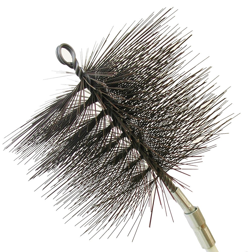 rutland products 16406 6 inch round chimney cleaning brush stove