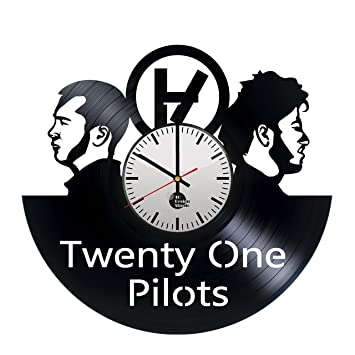 office wall clock.  office twenty one pilots band vinyl record wall clock  get unique home or office  wall decor throughout office