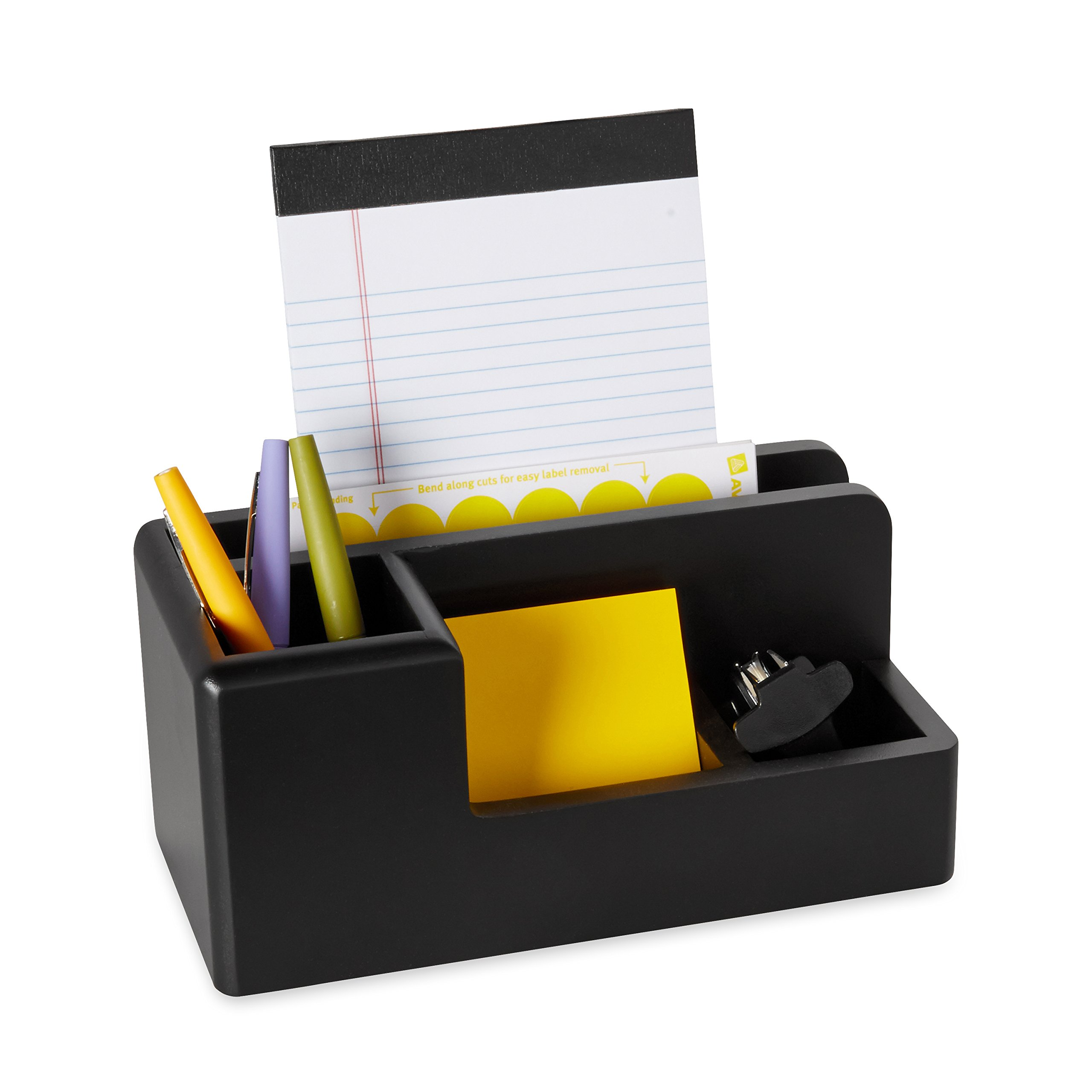 Rolodex Wood Tones Collection Desk Organizer, Black (62537) by Rolodex (Image #3)