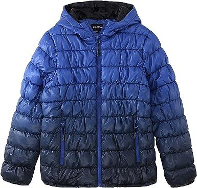 Krumba Boys Zip Off Gradient Water Resistant Dip Dye Hooded Puffer Jacket