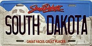 South Dakota License Plate Novelty Fridge Magnet