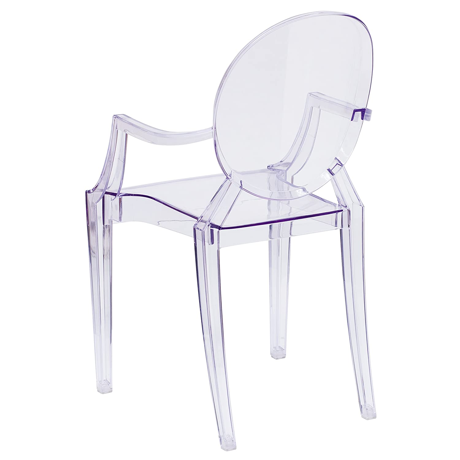Flash Furniture 4 Pk. Ghost Chair with Arms in Transparent Crystal