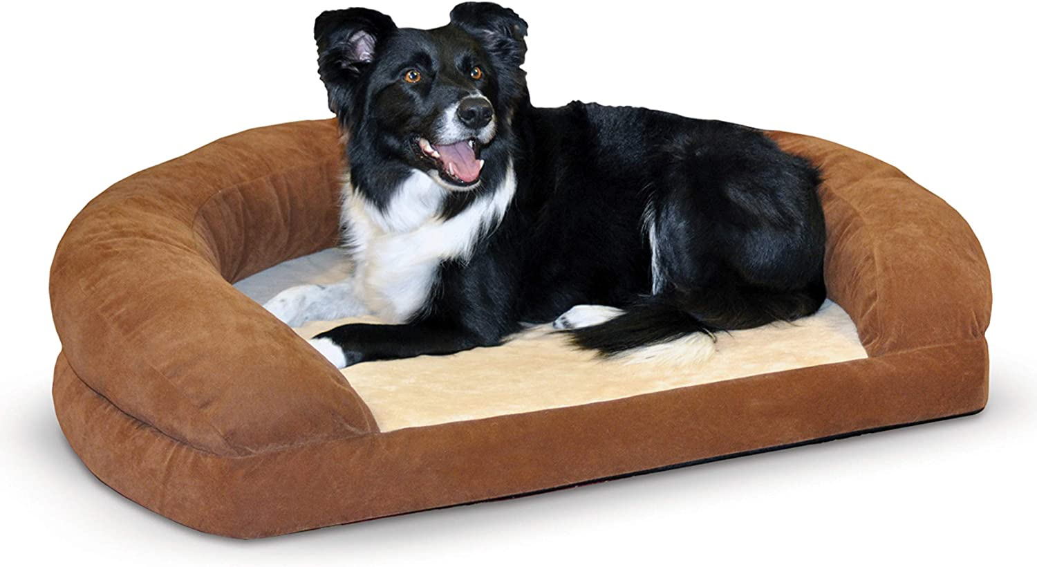 Amazon Com K H Pet Products Ortho Bolster Sleeper Orthopedic Dog Bed Large Brown Pet Supplies