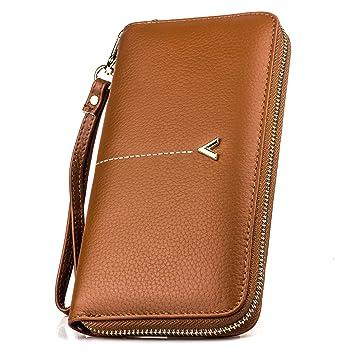 6612dc574e311 BAGZY Damen weich aus Leder Geldbörse Handtasche Brieftasche Handy  Geldbeutel Mädchen Frau Kreditkartenetui Geld-Organisator