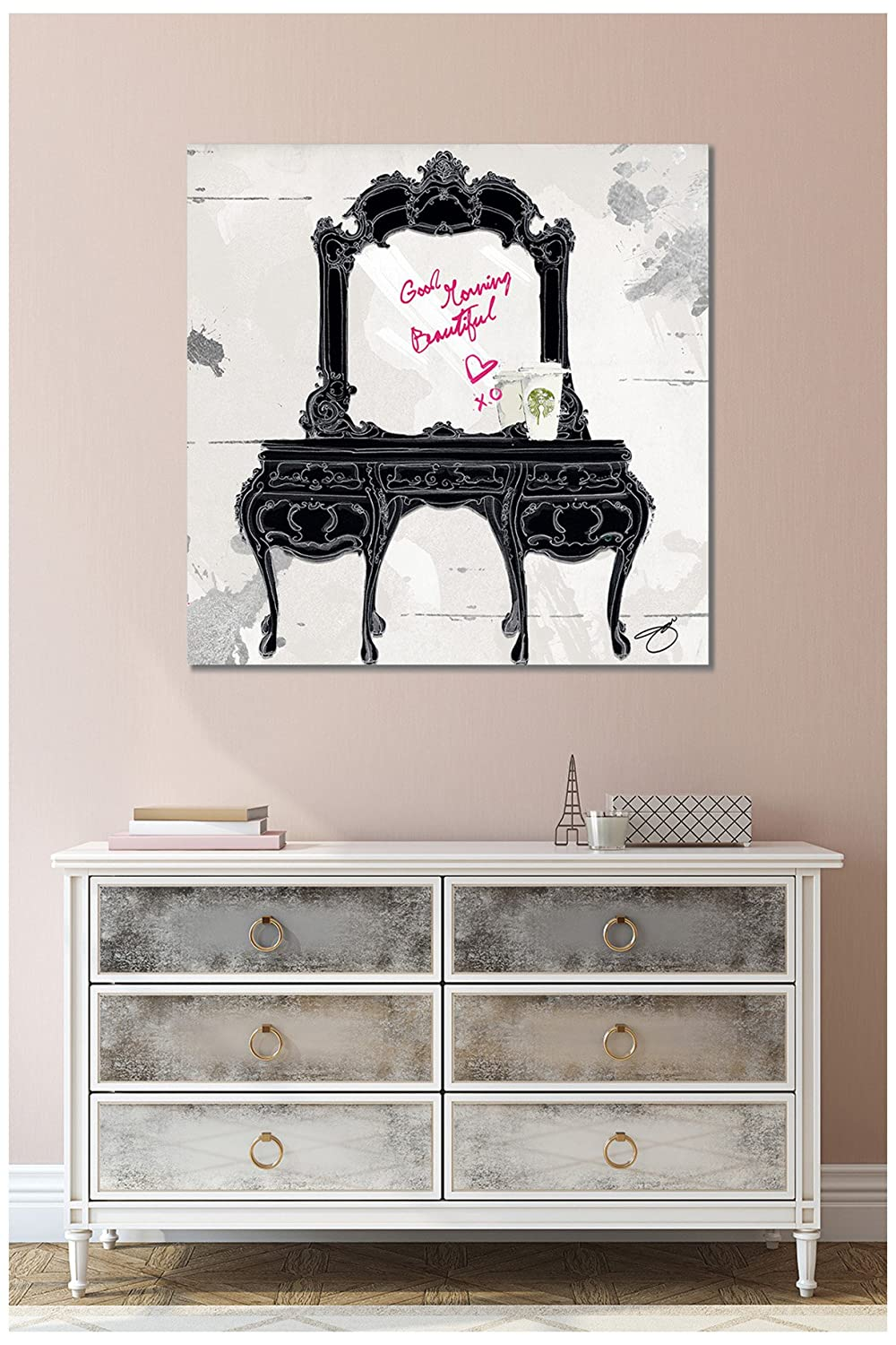 Picture Perfect International Giclee Stretched Canvas Art by by Jodi Good Morning Beautiful Wall-Decor 28 x 28 x 1.5
