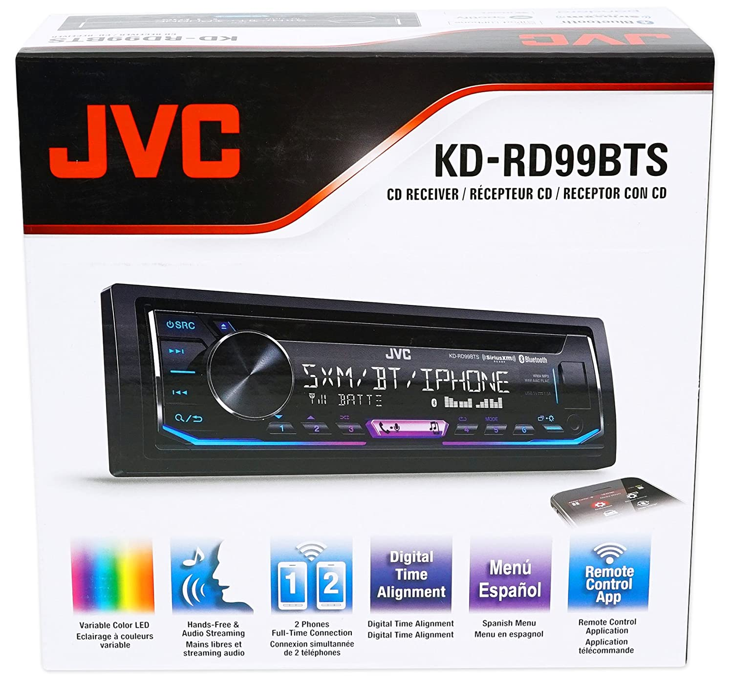 Jvc Cd Receiver W Bluetooth Usb Iphone Android Xm For 99 Wiring Harness Adapter Ford To 10 Volkswagen Vw Beetle Gps Navigation