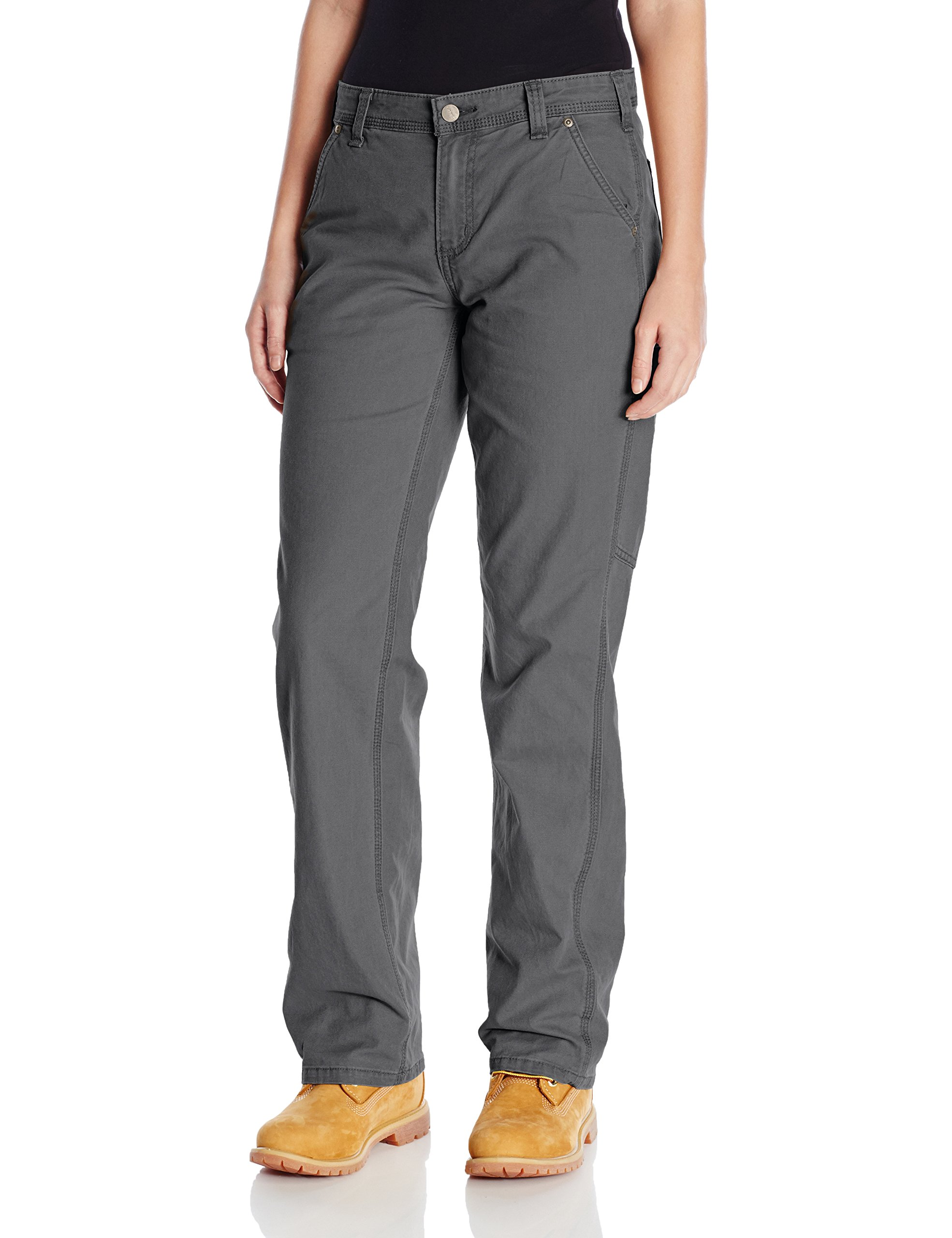 Carhartt Women's Original Fit Crawford Pant, Coal, 8