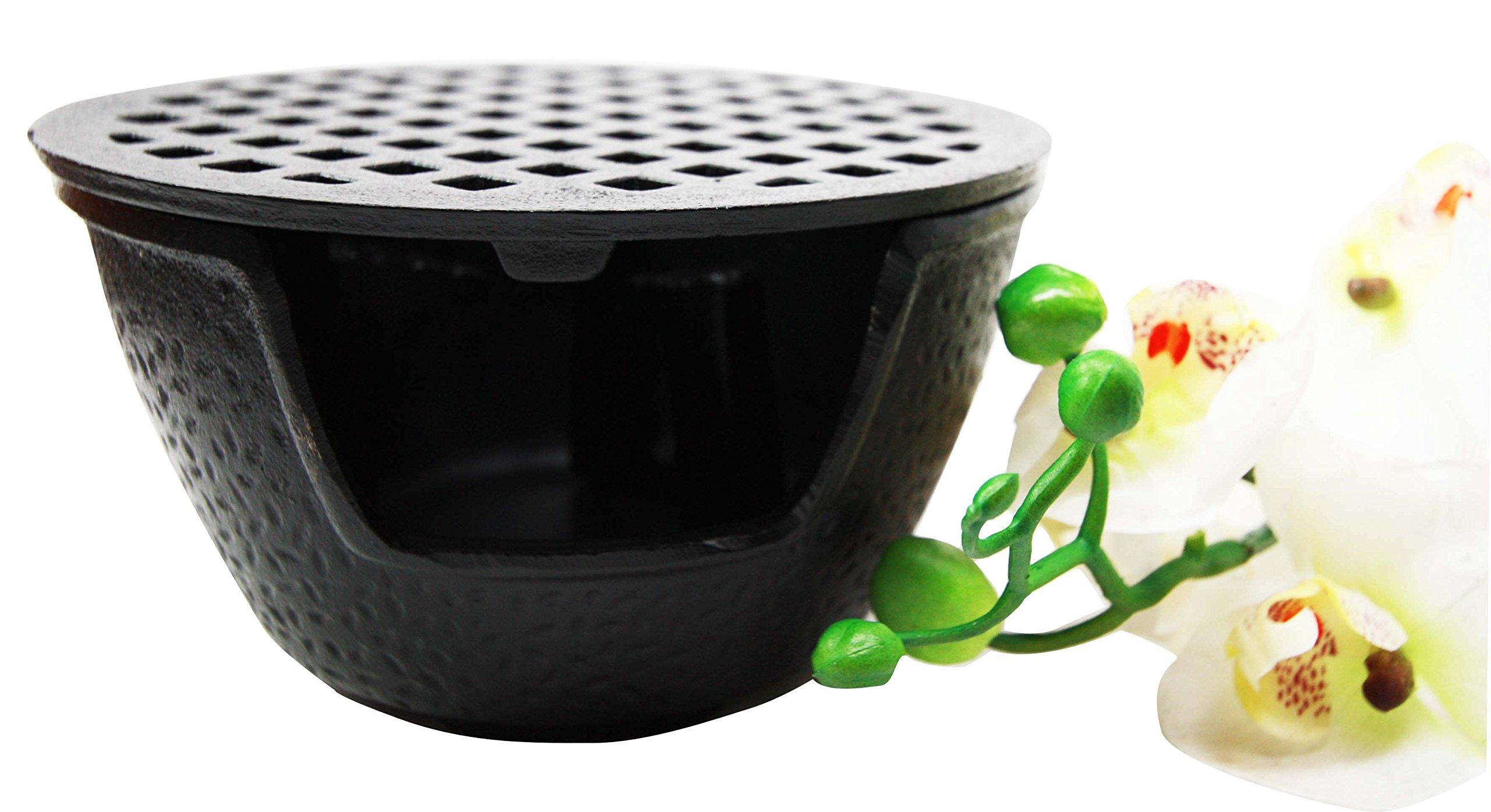 Japanese Cast Iron Tetsubin Teapot Tea Light Candle Warmer Base Riser 6'' Diameter