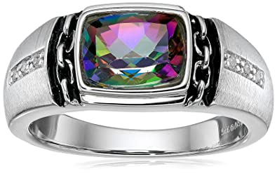 trillion ring carat malaika rings mystic topaz watches cut silver genuine jewelry product sterling
