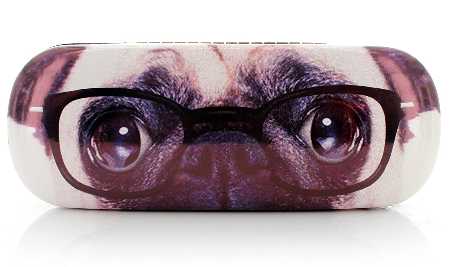Brillenetui PUG WITH GLASSES black Out of the blue