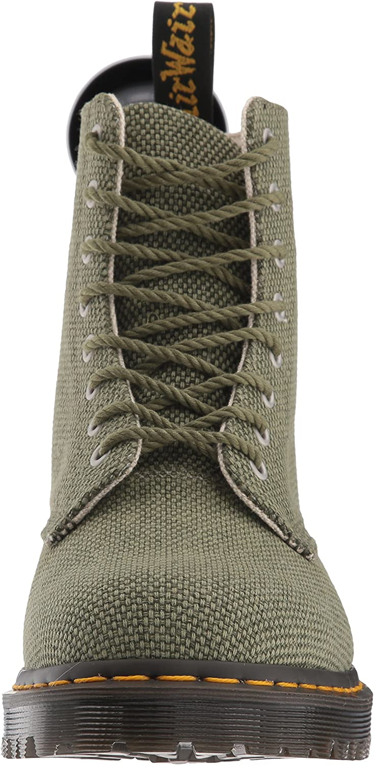 Dr Martens Womens Olive Military Canvas Pascal Fashion Boot