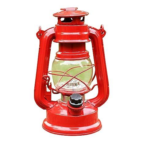 PK Green Farol LED Decorativo a Pilas, Lámpara Vintage Roja ...