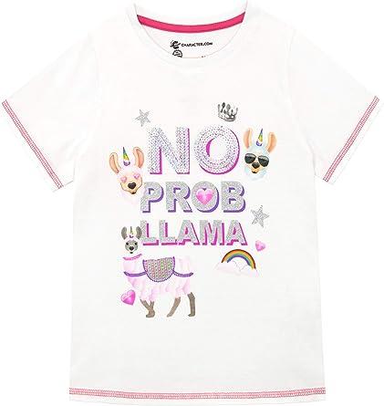 Emoji Camiseta de Manga Corta para niñas Llama: Amazon.es: Ropa y ...