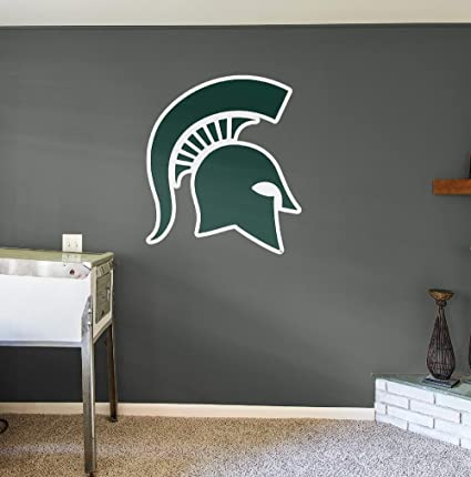 Nudge Printing Classic Michigan State University Spartan Helmet Sparty Head XL MSU Wall Decal Sticker Set Peel and Stick
