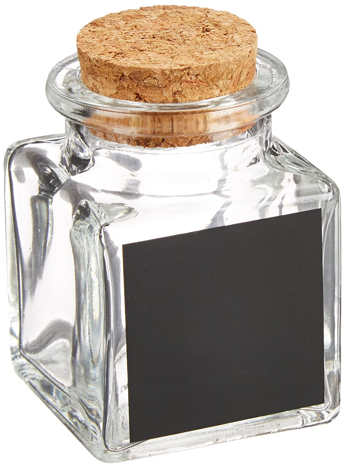 Square Mini Glass Bottles With Chalkboard Labels