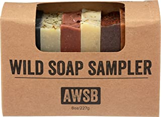 product image for Wild Soap Sampler Gift Set with 8 Small, Natural & Organic Bar Soaps for Guests or Travel, Handmade by A Wild Soap Bar