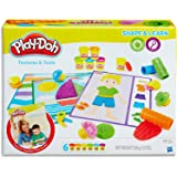 Play-Doh - Shape & Learn - Textures and Tools inc 6 Tubs of Dough & acc - Creative Kids Toys - Ages 2+