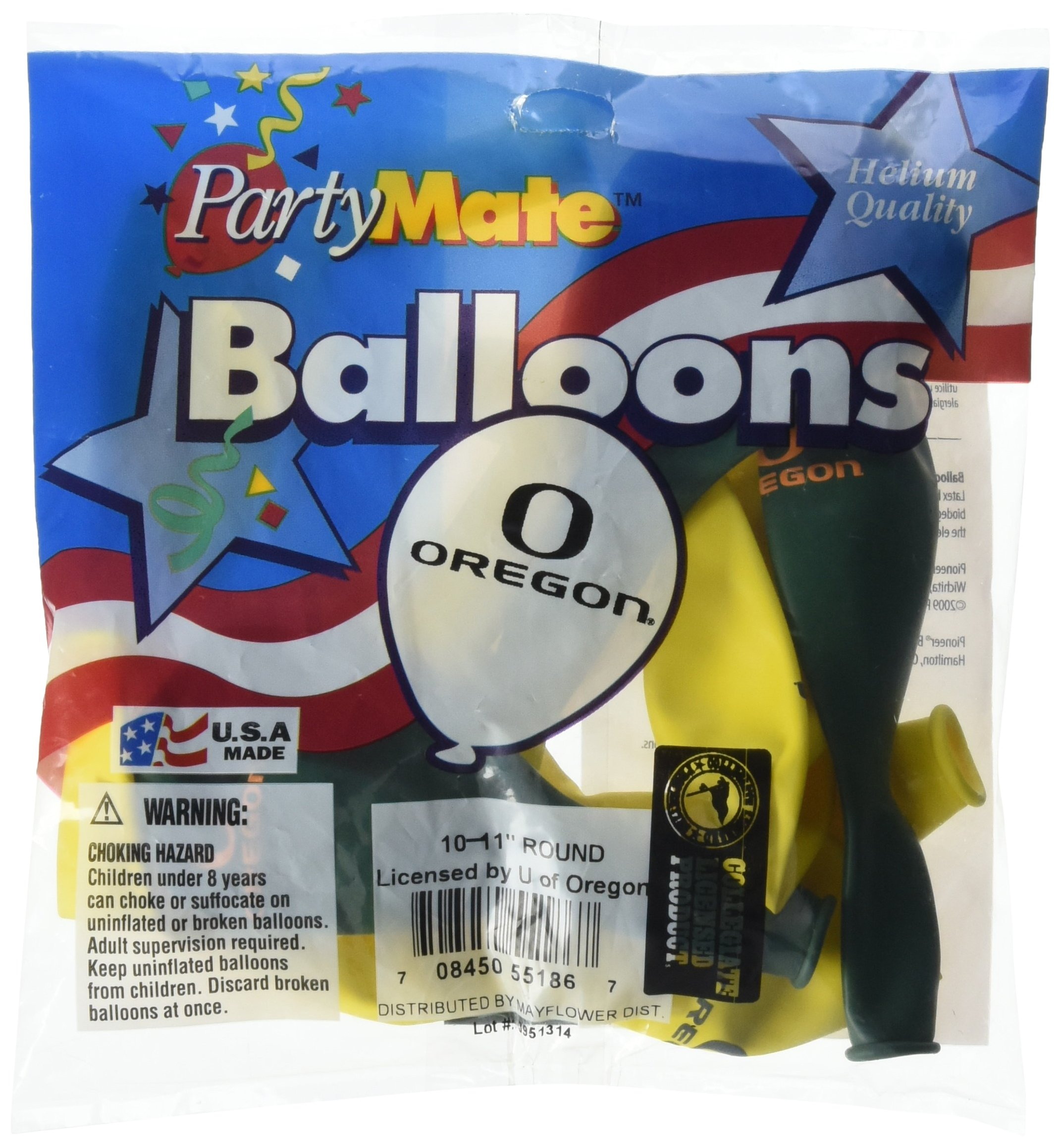 Pioneer Balloon Company 10 Count University of Oregon Latex Balloon, 11'', Multicolor by Pioneer Balloon Company (Image #1)