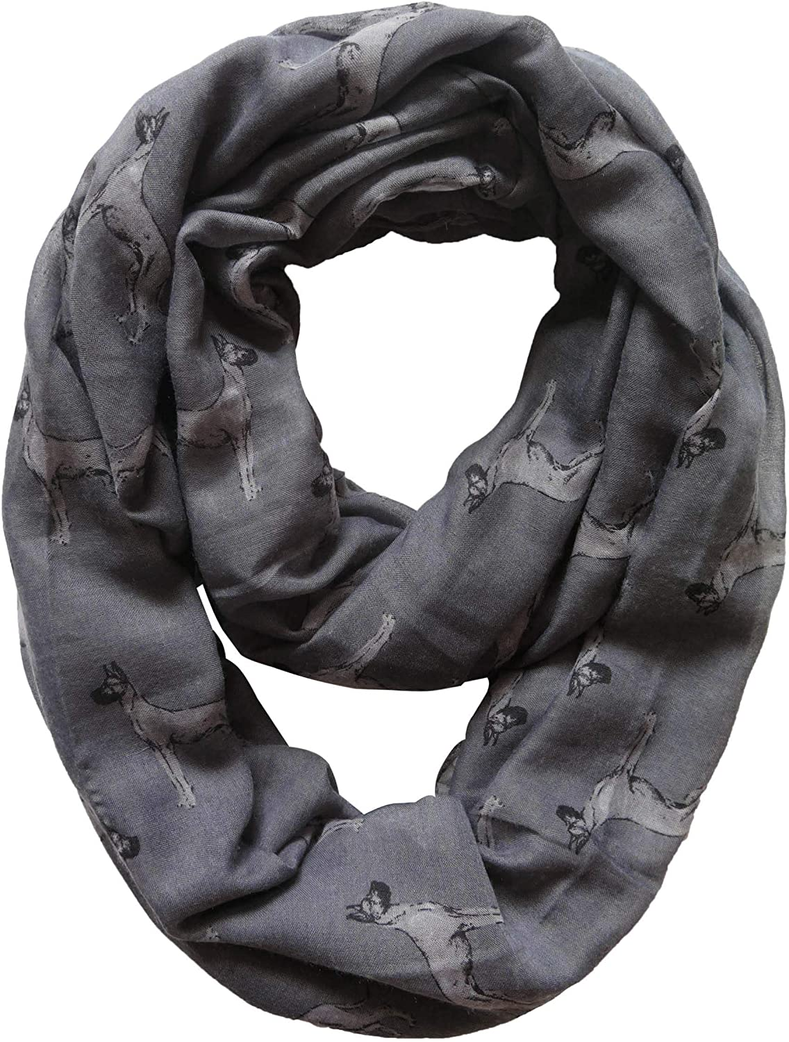 Lina & Lily Dogs Print Infinity Loop Scarf - Great Dane