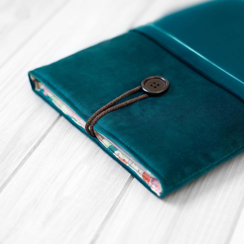 étui/housse/sleeve/pochette pour tablette iPad Pro Air Mini 9.7 10,5 11 12.9 tissu velours turquoise