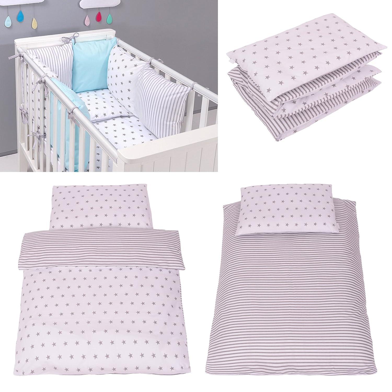 Parure de lit bébé avec DESIGN REVERSIBLE - Stars Marine 90x120 Cm Sevira Kids