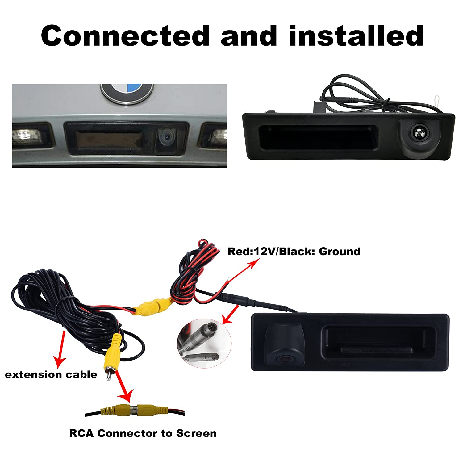 Canying Car Trunk Handle Rear View Camera special for BMW 3 5 X3 Series F10 F11 F25 F30 Shenzhen Zhuohan Technology Co Ltd CA-ZH718L