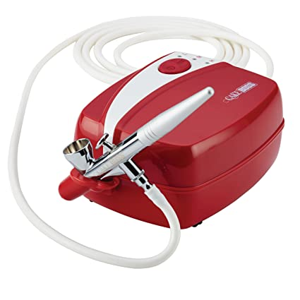 Amazon Cake Boss 50660 Decorating Tools Air Brush Kit Red Kitchen Dining
