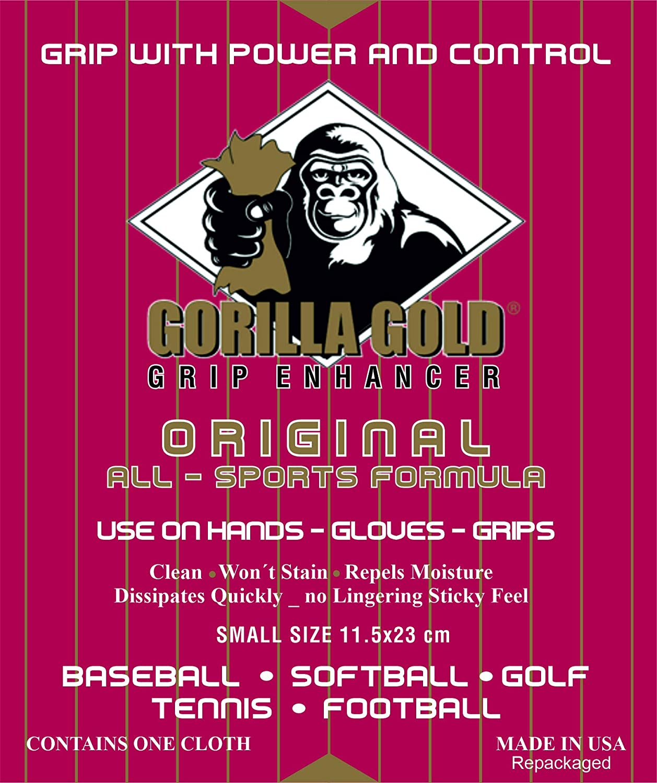 CREADIVA Gorilla Gold Grip Enhancer Cinta Potenciador de Agarre Tenis Padel Golf Badminton Deportes Tamaño Pequeño 23x11cm