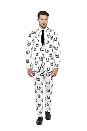 982810b6b8c96e Opposuits Star Wars Suit of-Official Stormtrooper Costume Comes with Pants,  Jacket and Tie