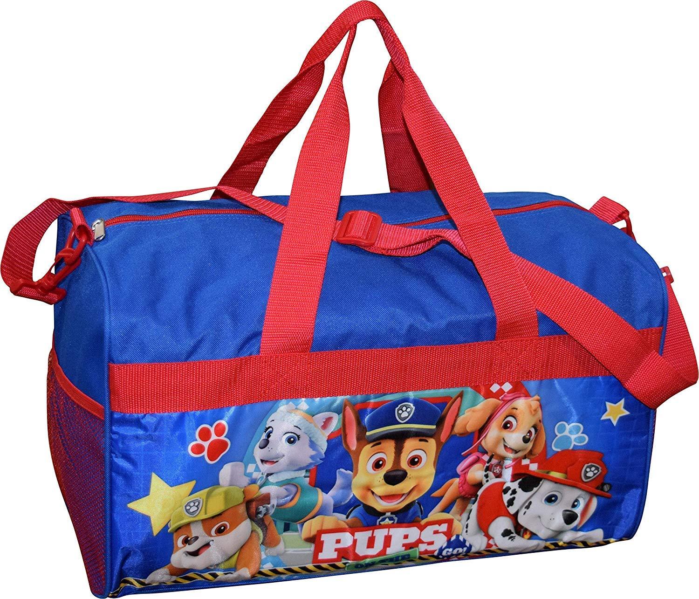 Nickelodeon Paw Patrol Boy's 18'' Carry-On Duffel Bag (Blue Red)