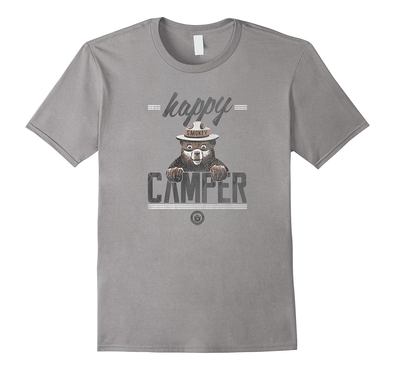 Smokey Bear Happy Camper T-Shirt  Classic Look-BN