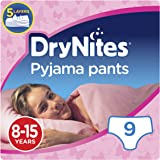 Huggies DryNites Pyjama Pants for Girls, Age 8-15 - 9 Pants Total