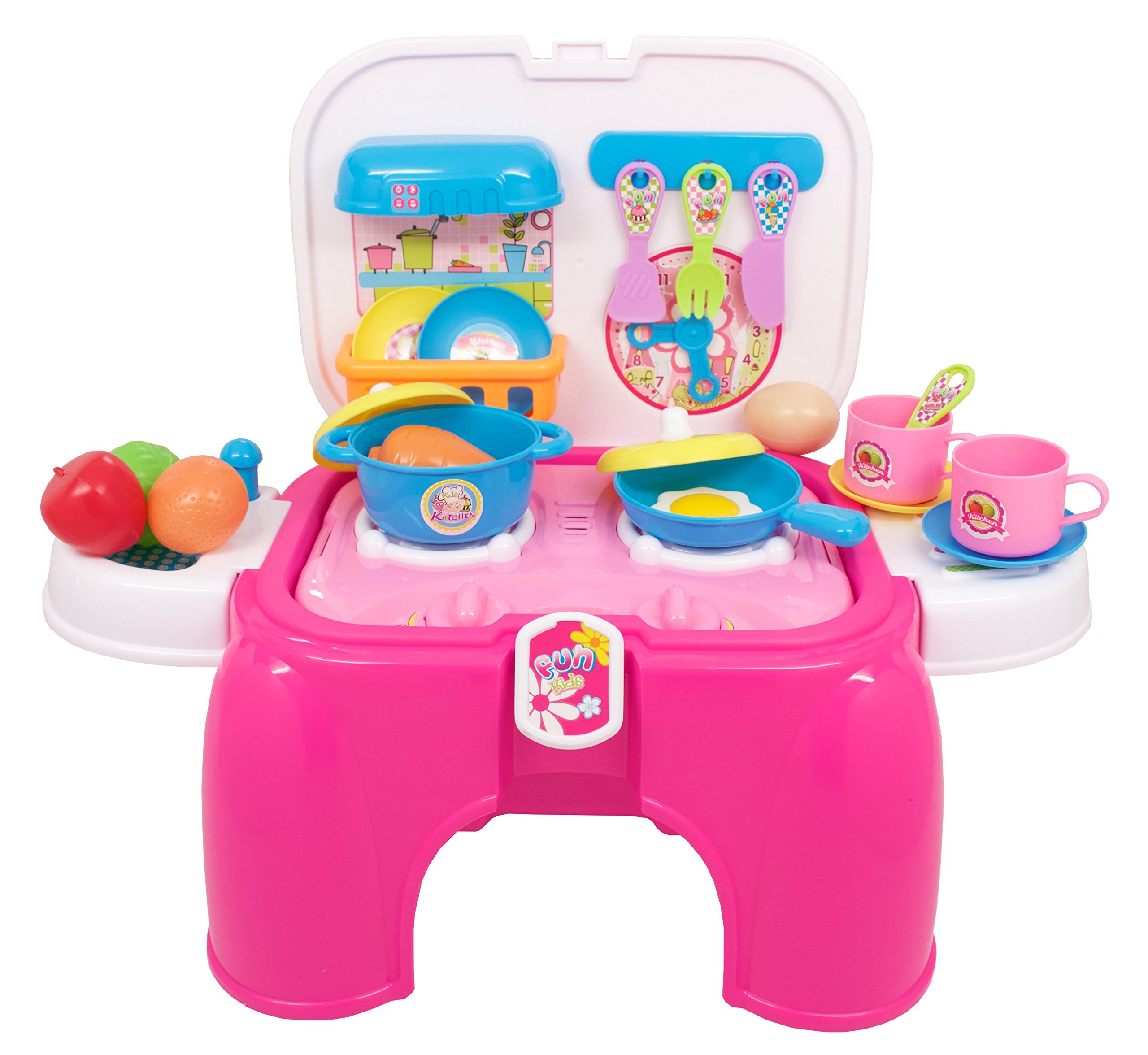 Techege Toys Convertible Cooking Kitchen Chair Converts to Stool for Multiple Uses