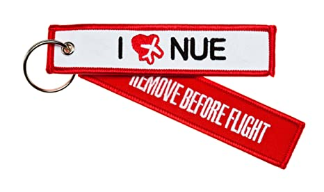 Llavero Remove Before Flight - I Love Nue - Incluye ...