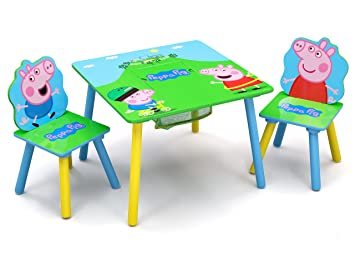 Delta Children Kids Chair Set and Table (2 Chairs Included), Peppa Pig