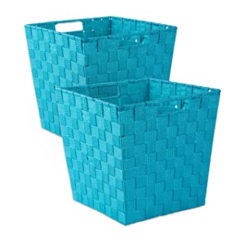 DII Durable Trapezoid Woven Nylon Storage Bin Or Basket For Organizing Your  Home, Office,