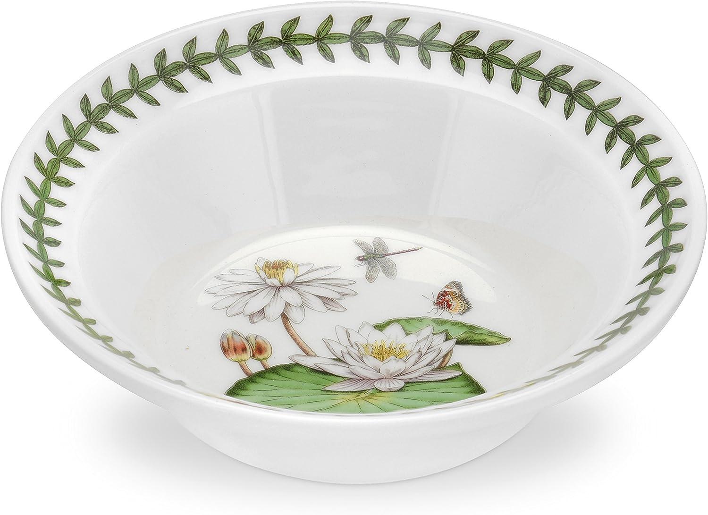 Portmeirion Exotic Botanic Garden White Water Lily Oatmeal Bowl