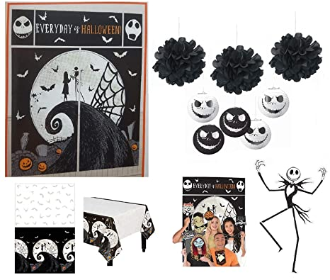 nightmare before christmas party supplies halloween decorations pack scene setter 50 stick prop lanterns table