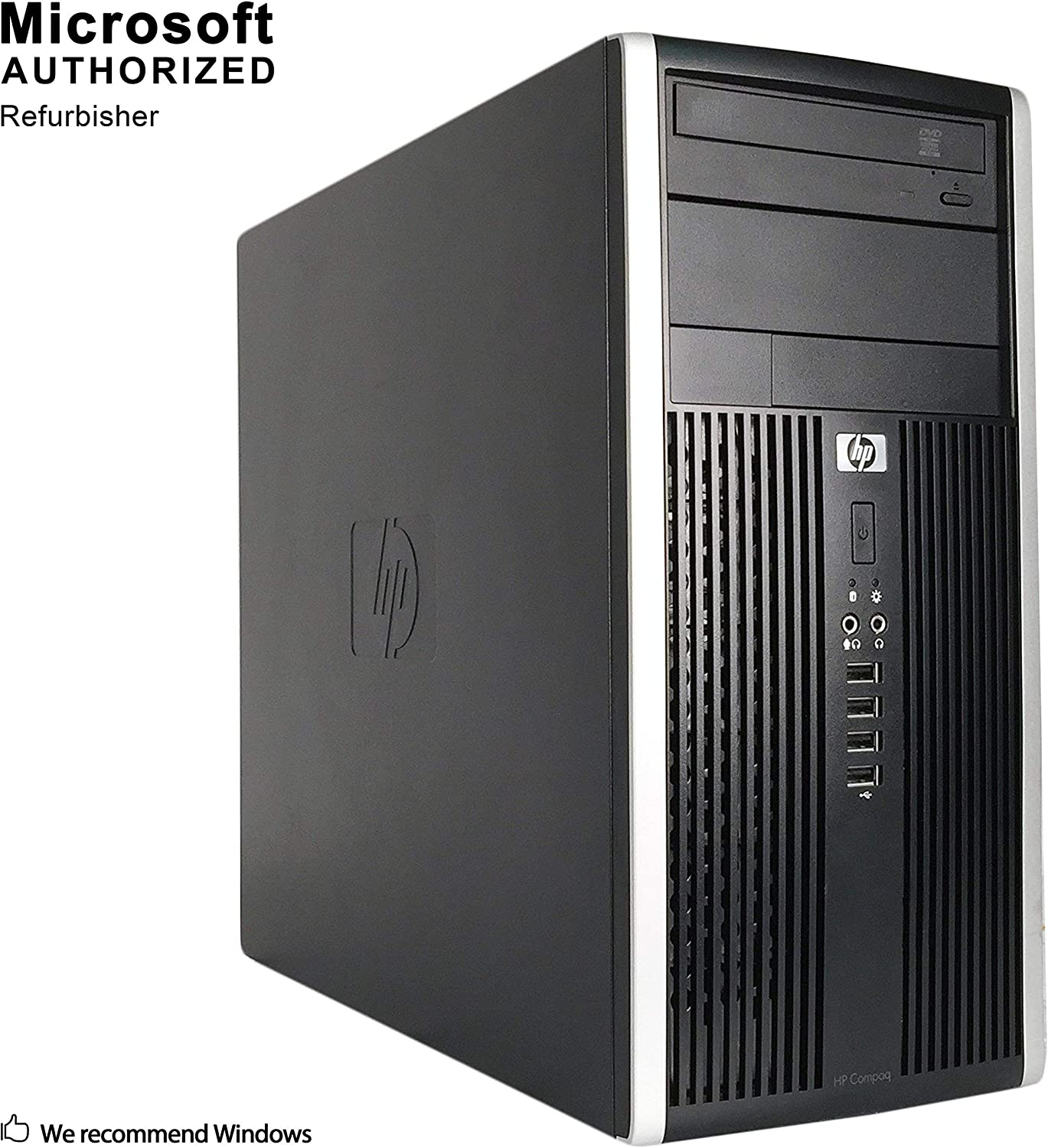 HP Pro 6200 Mini Tower Business High Performance Desktop Computer PC (Intel Core i3-2100 3.1GB Dual Core,6GB RAM DDR3,500GB HDD,DVD-ROM,Wi-Fi,Windows 10 Home 64)(Renewed)