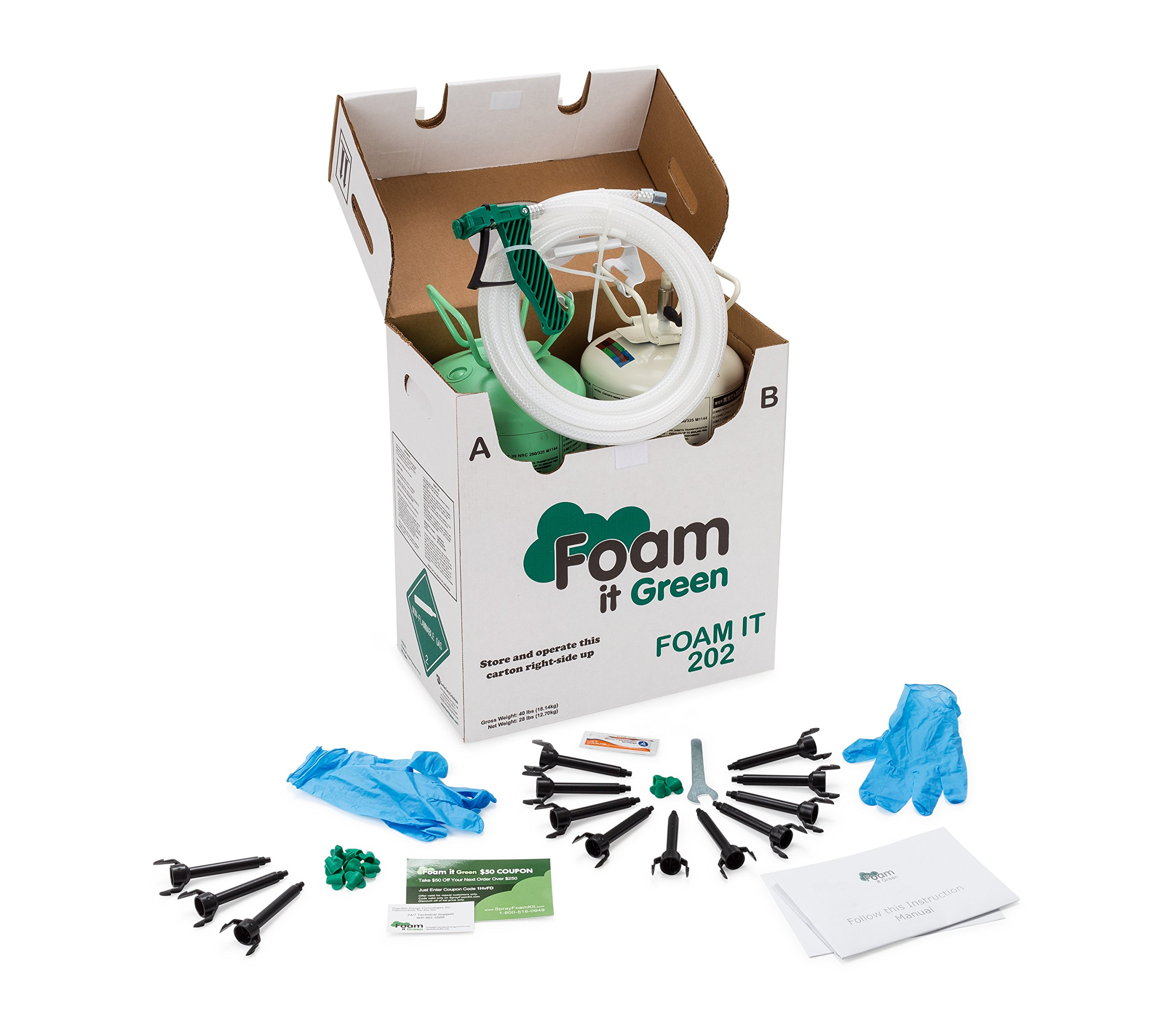 Foam It 202 Fire Retardant Spray Foam Insulation Kit (202) by Foam It Green