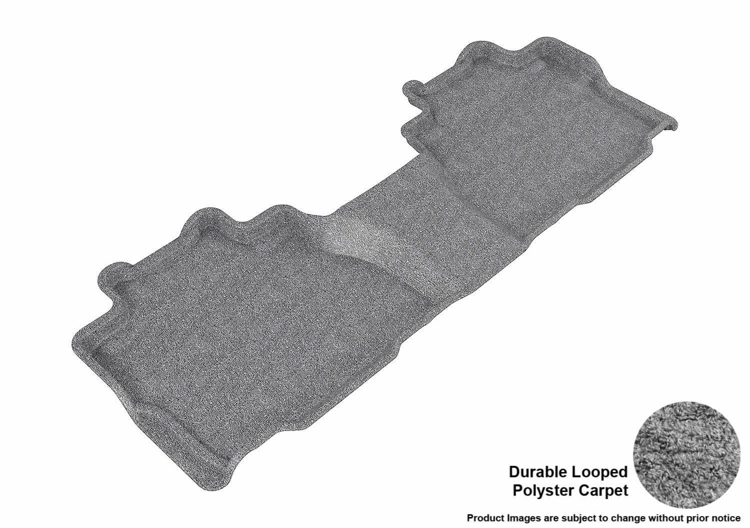 L1TY14622201 Classic Carpet 3D MAXpider Second Row Custom Fit Floor Mat for Select Toyota Sequoia Models Gray