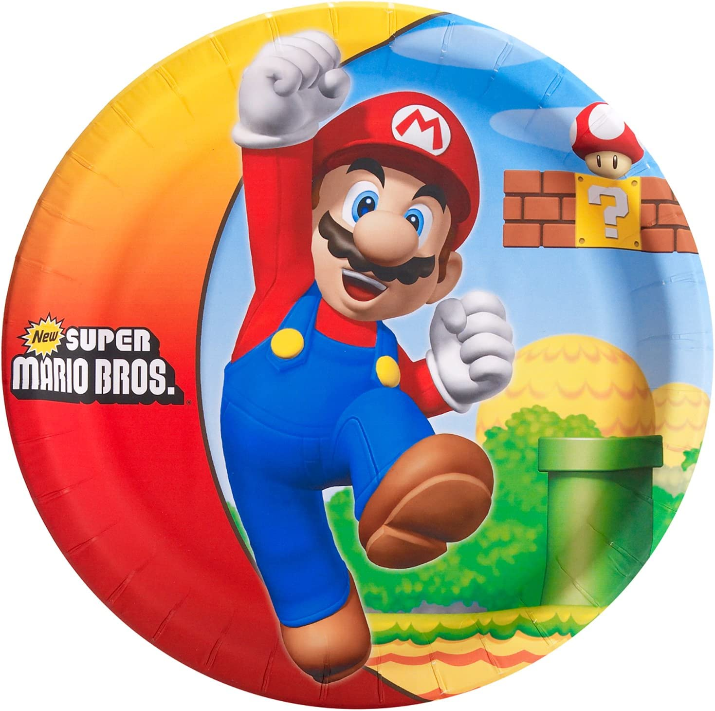 Amazon.com: Super Mario Bros Party Supplies – Platos llanos ...