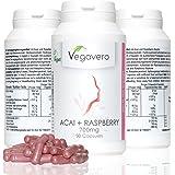 Acai + Chetoni di Lampone Vegavero | bruciagrassi e antiossidante | 90 capsule – Vegan - qualità certificata
