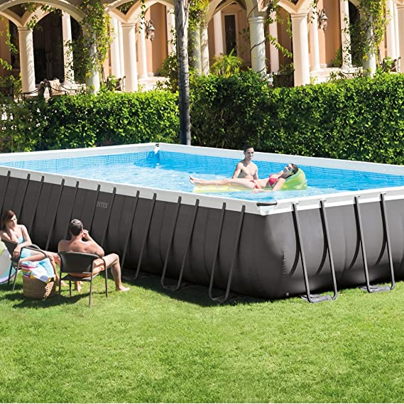 Intex 26372NP - Piscina desmontable Ultra Frame 975 x 488 x 132 cm, 54.368 litros: Amazon.es: Jardín