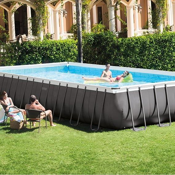 Intex 26372NP - Piscina desmontable Ultra Frame 975 x 488 x 132 cm, 54.368 litros: Amazon.es: Jardín