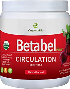 Betabel Plus Circulation Superfood | Organic Blend Infused with Organic Beet Powder Formulated to Support Healthy Blood Pressure Levels and Overall Cardiovascular Health - 8.06 Oz - 30 Day Supply.